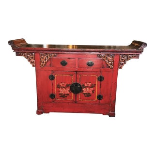 19th Century Chinese Wooden Altar Table For Sale
