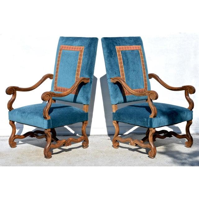 Louis XIV Style Os De Mouton Armchairs, a Pair For Sale - Image 10 of 12