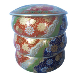 1980s Japanese Dipping Sauce Stacking Bowls - 3 Pc. Set For Sale