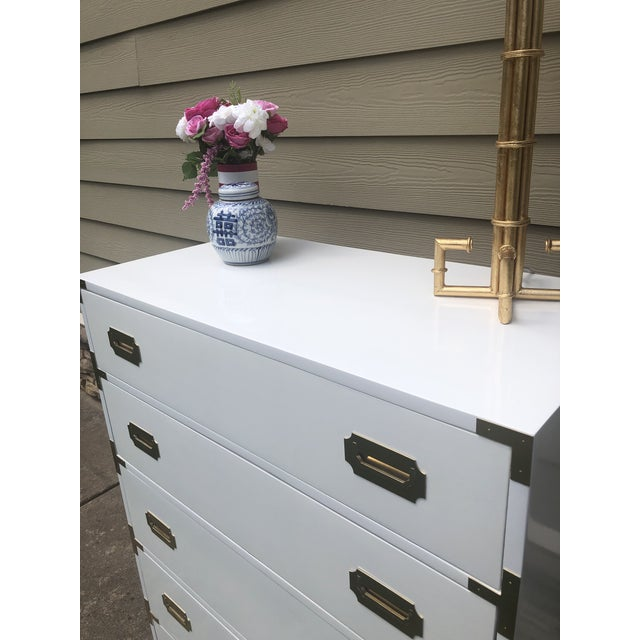Campaign 1960s Campaign Dixie Tall Dresser For Sale - Image 3 of 4