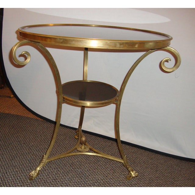 Bronze & Marble Two Tier Gueridon Side Table - Image 3 of 9
