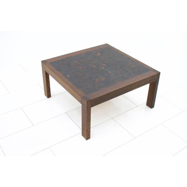 1960s Dieter Waeckerlin Mosaik Coffee Table in Wenge, Switzerland, 1960s For Sale - Image 5 of 5