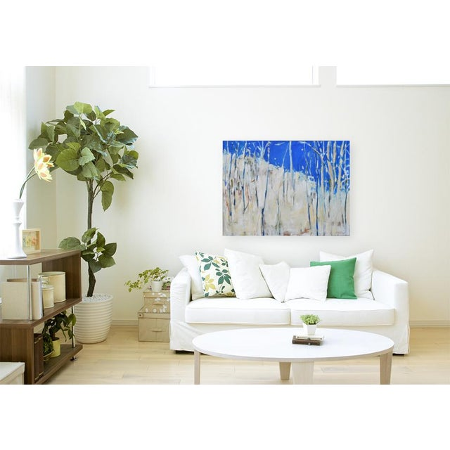 """Abstract Painting, """"Have You Ever Seen a Sky So Blue"""", by Stephen Remick For Sale - Image 9 of 10"""