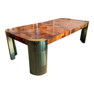 Curvilinear Dining Table with extension Paul Evans for Directional For Sale