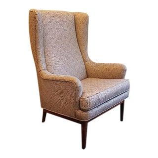Mid-Century Modern Scandinavian Wing Chair For Sale