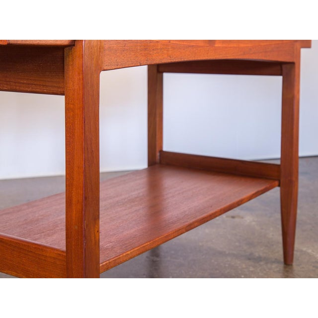 Wood Ib Kofod Larsen Teak Console Table for Faarup For Sale - Image 7 of 11