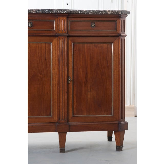 French Late 19th Century Louis XVI Style Mahogany Enfilade with Marble Top - Image 4 of 10