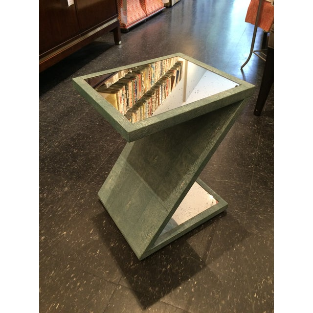 Z-Shaped Table with Antiqued Mirror - Image 2 of 5