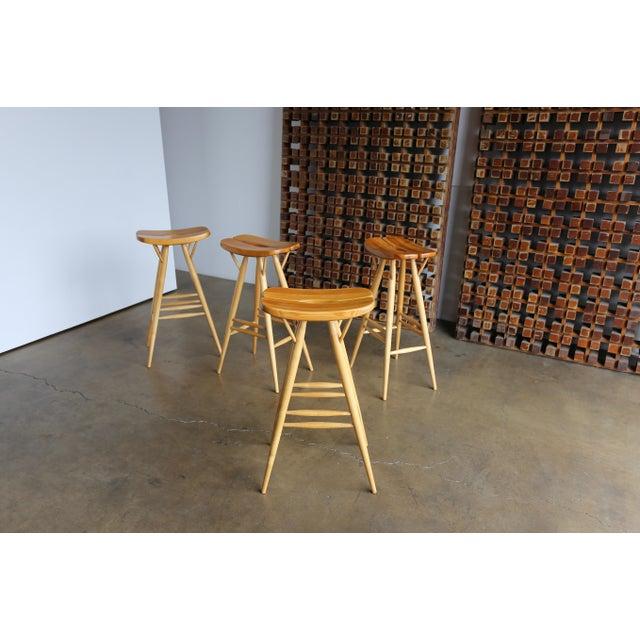 Mid 20th Century Mid Century Ilmari Tapiovaara Stools - Set of 4 For Sale - Image 5 of 12