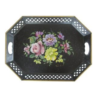 Vintage Handpainted Tole Tray