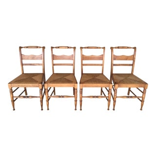 Stickley Cherry Valley Rush Bottom Side Chairs - Set of 4