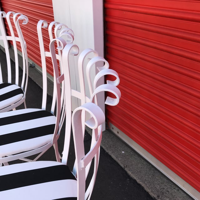 Vintage Metal Outdoor Chairs - Set of 4 - Image 10 of 11
