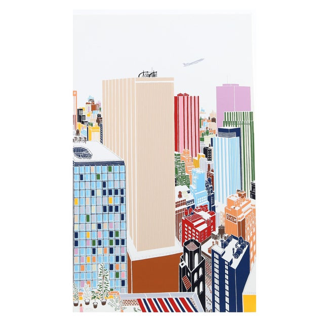 Mori Shizume - New York Skyline 4 Silkscreen - Image 1 of 2