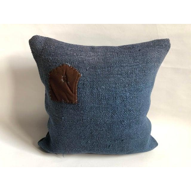 Vintage Turkish Hemp Decorative Sofa Pillow Case For Sale In Phoenix - Image 6 of 6