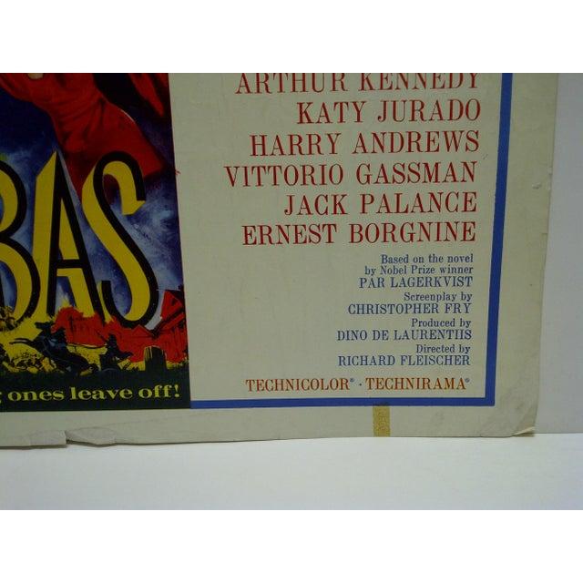 "1962 Vintage ""Barabbas"" Movie Poster For Sale - Image 4 of 4"