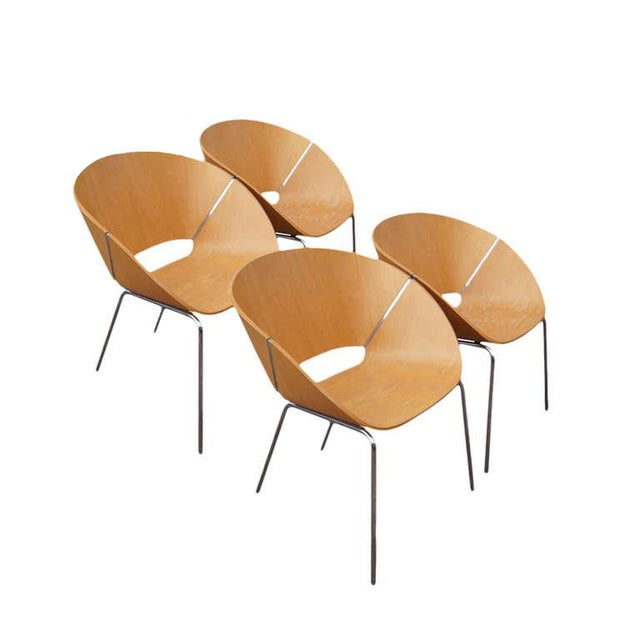 Wolfgang C.R. Mezger Lipse Chairs - Set of 4 For Sale - Image 11 of 11
