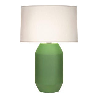 Green Crackle Titan Table Lamp For Sale