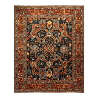 One-Of-A-Kind Oriental Serapi Hand-Knotted Area Rug, Regal, 8' 1 X 9' 9 For Sale