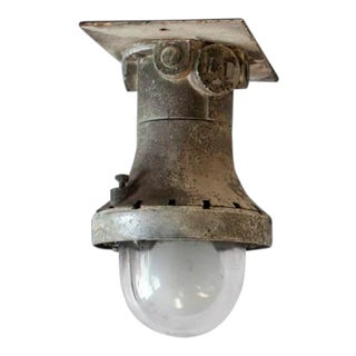 1930s Explosion Proof Industrial Flush Mount/Wall Sconce