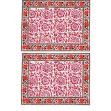 Image of Riyad Placemats Pink & Orange - A Pair For Sale