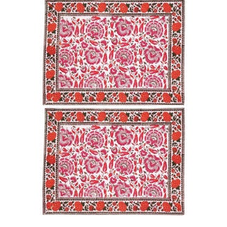 Riyad Placemats Pink & Orange - A Pair For Sale