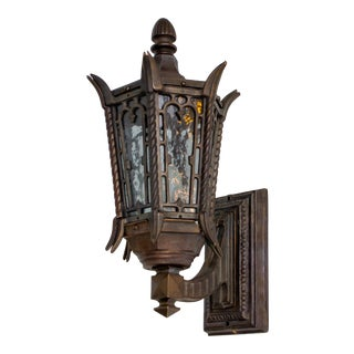 Custom Bronze Exterior Sconces For Sale