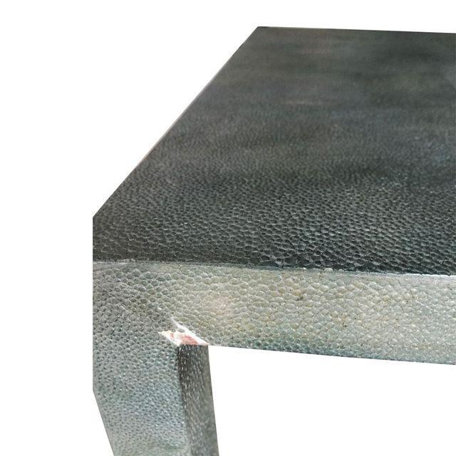 Contemporary Faux Shagreen Nesting Tables - Set of 3 - Image 4 of 5