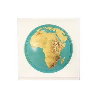 Lucite-Framed Topographical Map of Africa For Sale