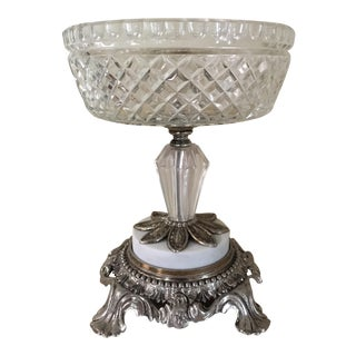 Vintage Footed Glass Serving Centerpiece
