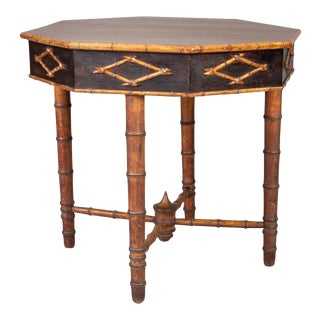 Antique Faux Bamboo Center Table For Sale
