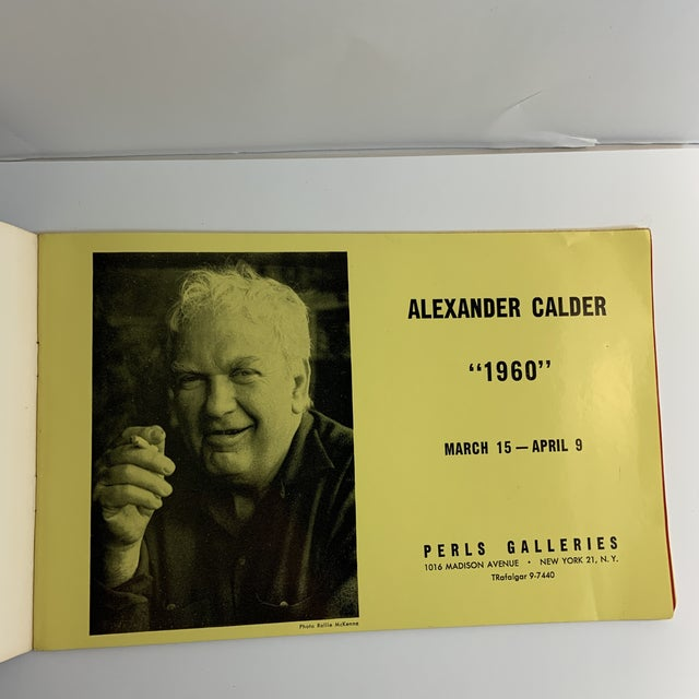 ALEXANDER CALDER: 1960, Perls Galleries, New York. First edition. Printed stapled wraps with deckled edges. 12 pp. 8 b+w,...