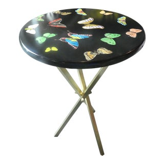 1960s Vintage Fornasetti Black Butterfly Table For Sale