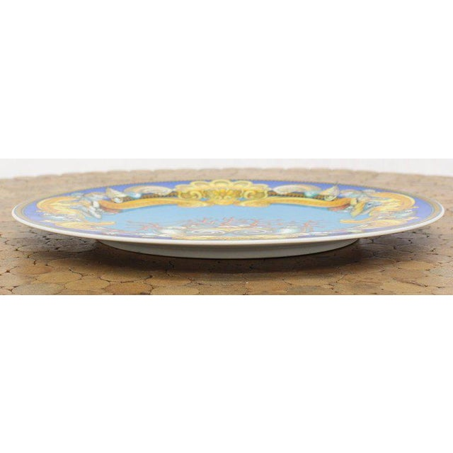 Rosenthal Versace Porcelain Charger Plate For Sale In New York - Image 6 of 7