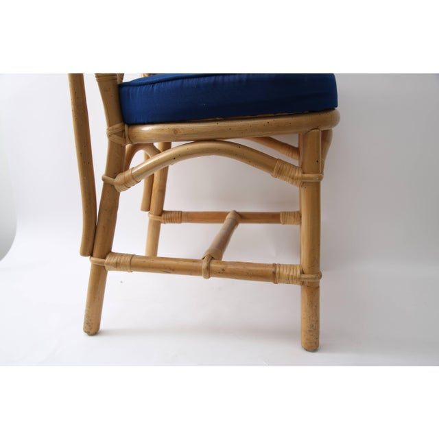 Boho Chic Chippendale Bamboo Side Chairs - Set of 6 For Sale - Image 3 of 13