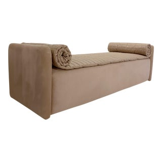 John Saladino Blush Chaise For Sale