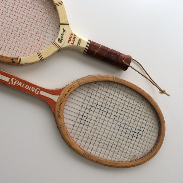 Rustic Vintage Spalding & Sportcraft Rackets- Set of 2 For Sale - Image 3 of 4