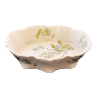 Limoges Blue Floral Design Trinket Bowl For Sale