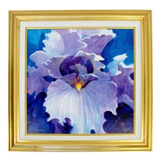 Contemporary Modern Framed Simon Bull Signed Giclee Print 2001 50/150 Purple For Sale