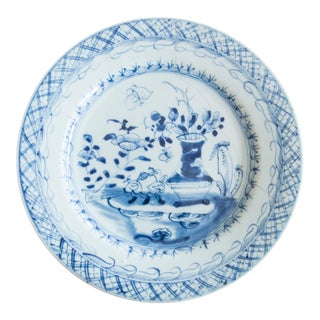 19th-Century Antique Delft Plate Staples Restoration For Sale