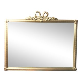 Antique Bow Top Mirror For Sale