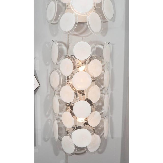Murano Glass Disc Sconce For Sale - Image 4 of 4