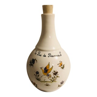 Late 20th Century French Nightingale Scene Bottle For Sale