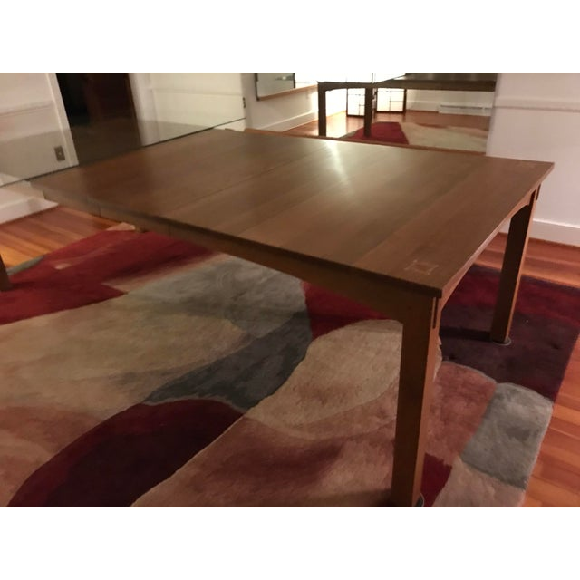 Harvey Ellis for Stickley Furniture Dining Table With Inlay on Four Corners For Sale - Image 6 of 7