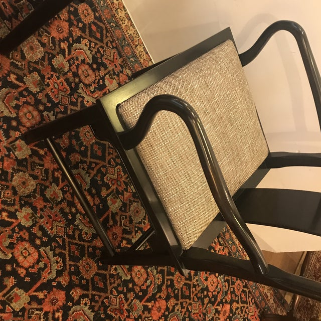 Mid-Century Modern Asian Style Armchairs - a Pair For Sale In Philadelphia - Image 6 of 12