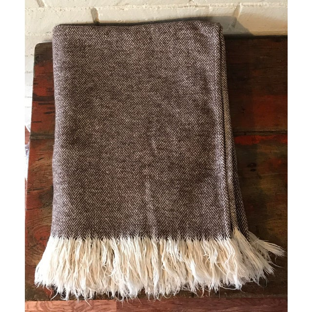 Brown & Ivory Woven Cotton Throw - Image 2 of 10