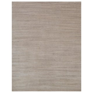 Banbury hand loomWool/ViscoseLight Gray/Beige Rug - 6'x9' For Sale