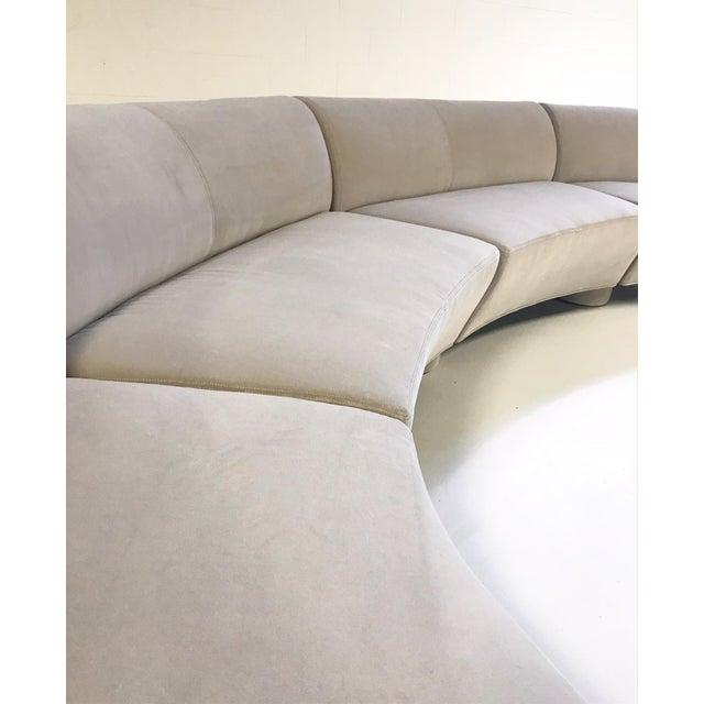 Gray Vintage Vladimir Kagan for Directional Cloud Sofa Restored in Loro Piana Grey Velvet For Sale - Image 8 of 10
