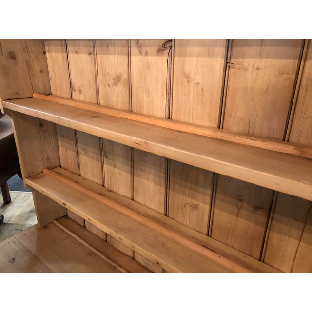 Tan Antique Pine Welsh Display Cabinet For Sale - Image 8 of 12