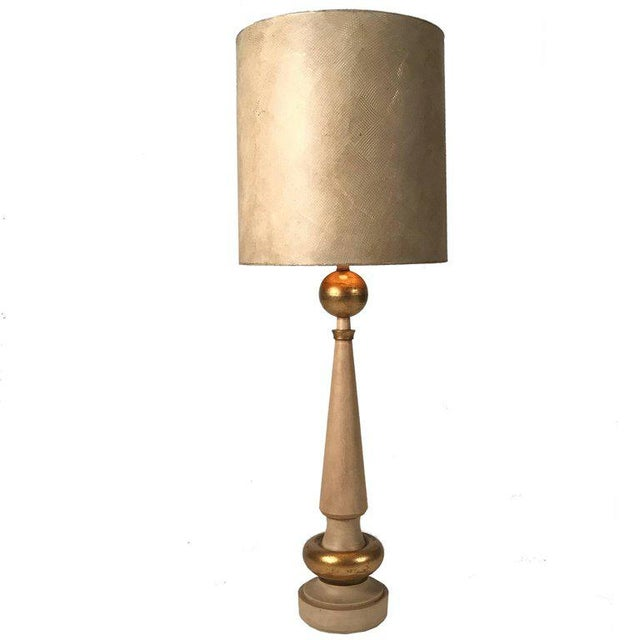 Monumental 1950s, Regency Torchiere Lamp in the Manner of James Mont For Sale In New York - Image 6 of 6