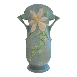 "Extra Large Roseville Usa ""Clematis"" Vase For Sale"